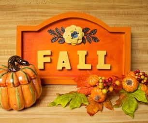 Decorative Fall Sign