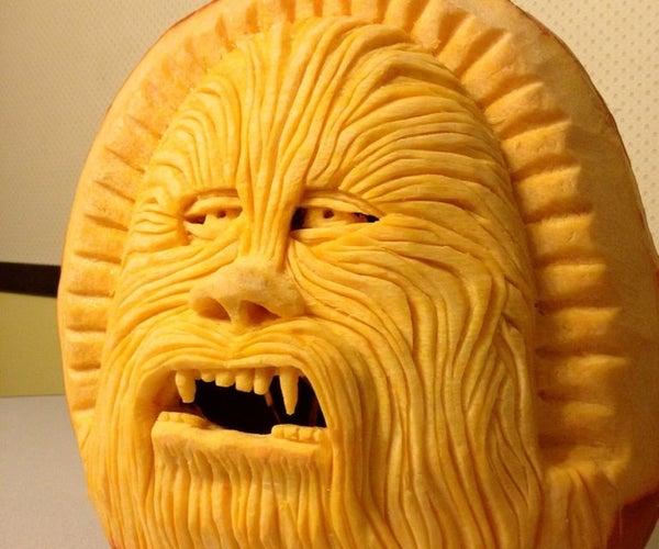 Carving a Chewbacca Pumpkin