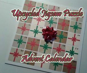 Upcycled Jigsaw Puzzle Advent Calendar