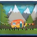 Camper Shadow Box Tutorial
