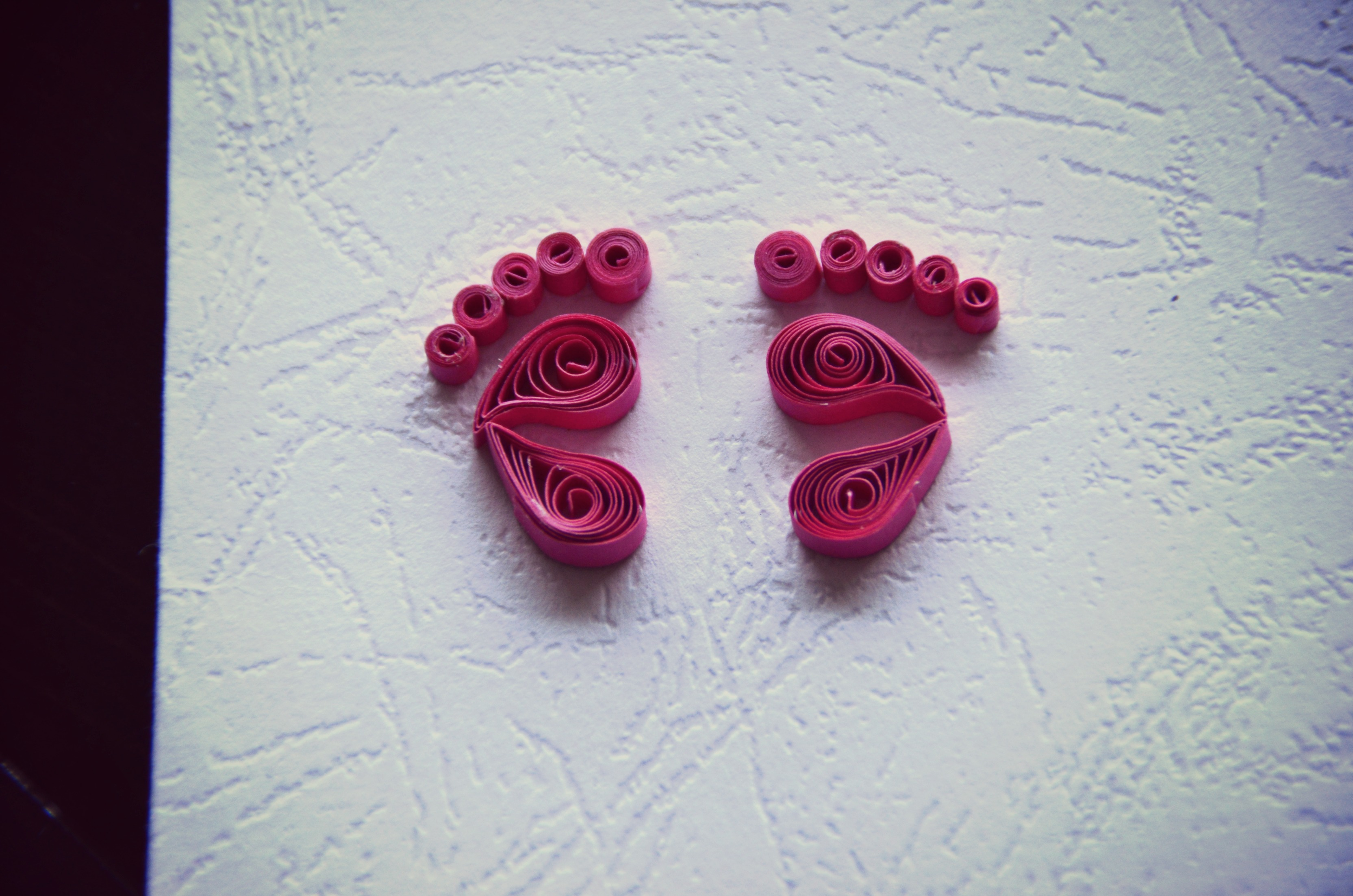Picture of Paper Quilling Baby Footprints