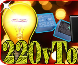 How to Make 220v Touch Switch Light Using Relay
