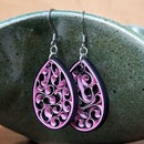 Quilled Paper Honeycomb Earrings