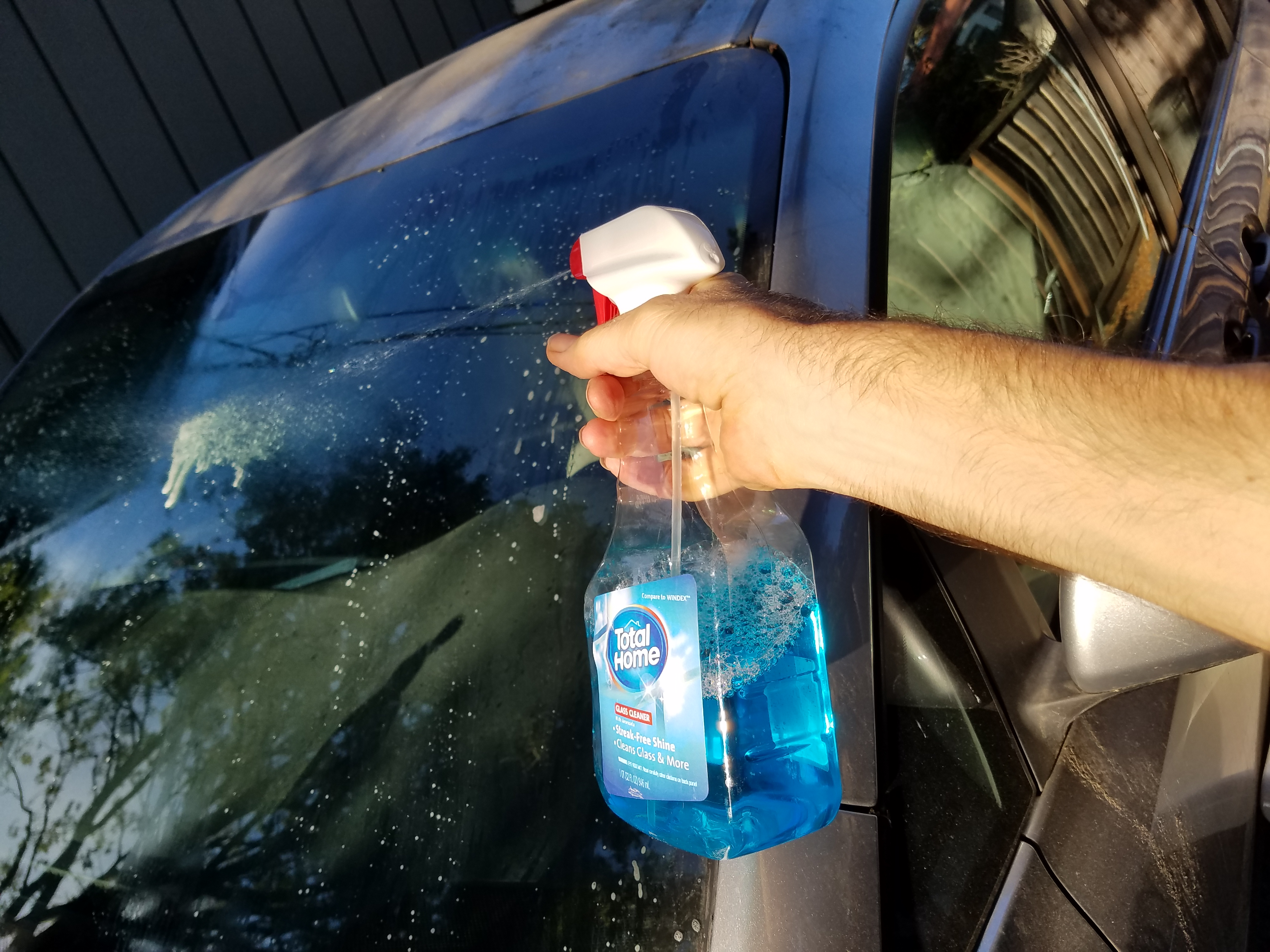 Picture of Wash With Windex, Especially the Windshield (and Solar Panel, If You Have One)