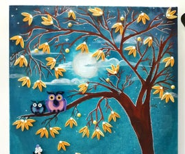 Quilling Mother and Daughter in a Moonlight Dream-garden