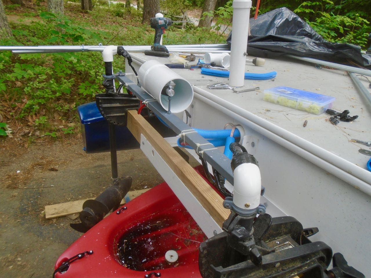 Picture of Fish Finder Transponder, Actuator Cover, and Pole Holder