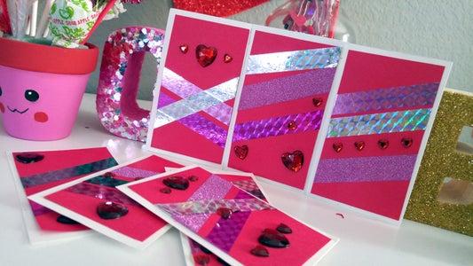 DIY Washi Tape Valentine Cards