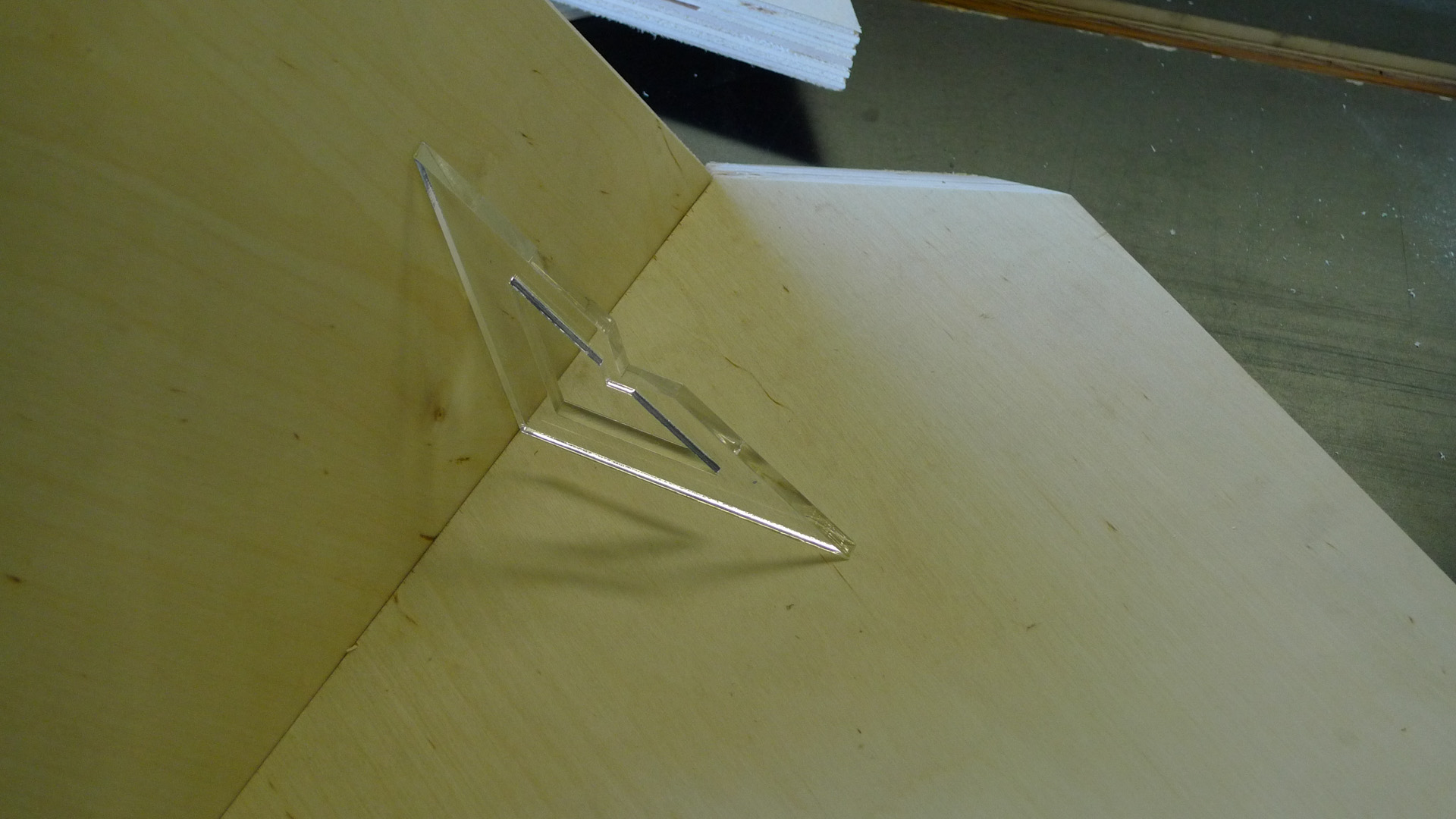 Picture of Measure Interior Angle With Laser-Cut Angle Template