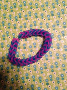 Fishtail- Blue and Purple/pink