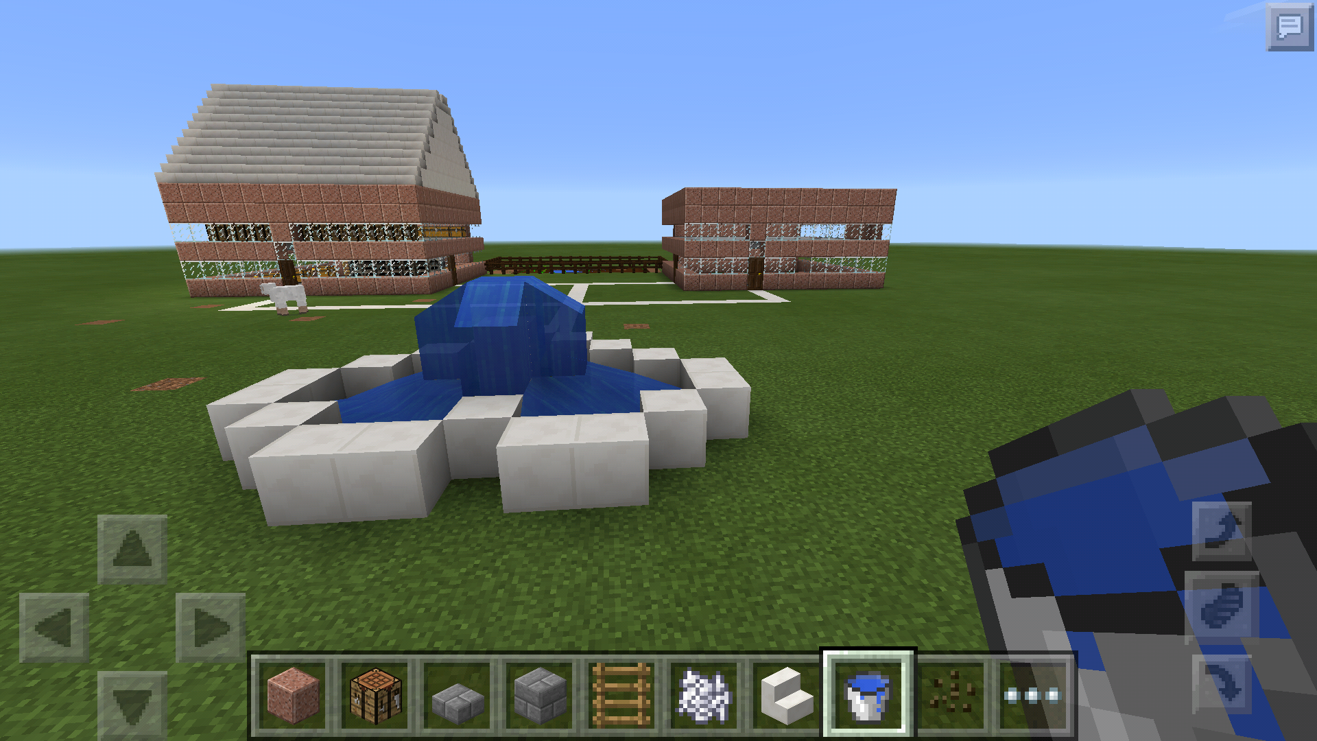 Picture of Minecraft Houses Garden and Fountain