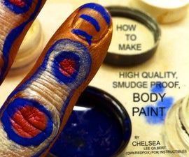 How to make Paintable Body Paint: High Quality, Smudge Proof, Vivid Colors and Metallics