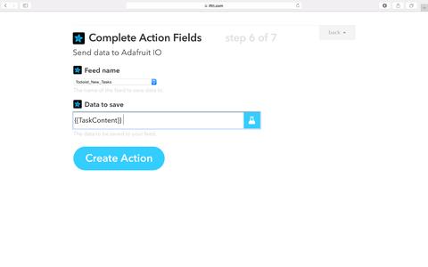 Linking IFTTT and Adafruit IO for New Tasks