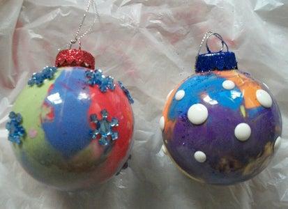 Mixed Media Ornaments