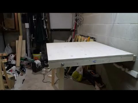 Diy Garage Fold Down Workbench
