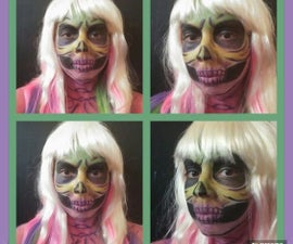 Ombre Skull Face Paint