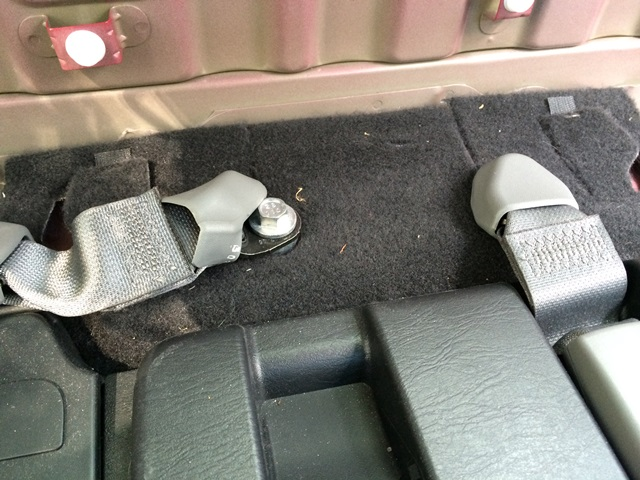 Picture of Remove the Seat Belt Receivers..