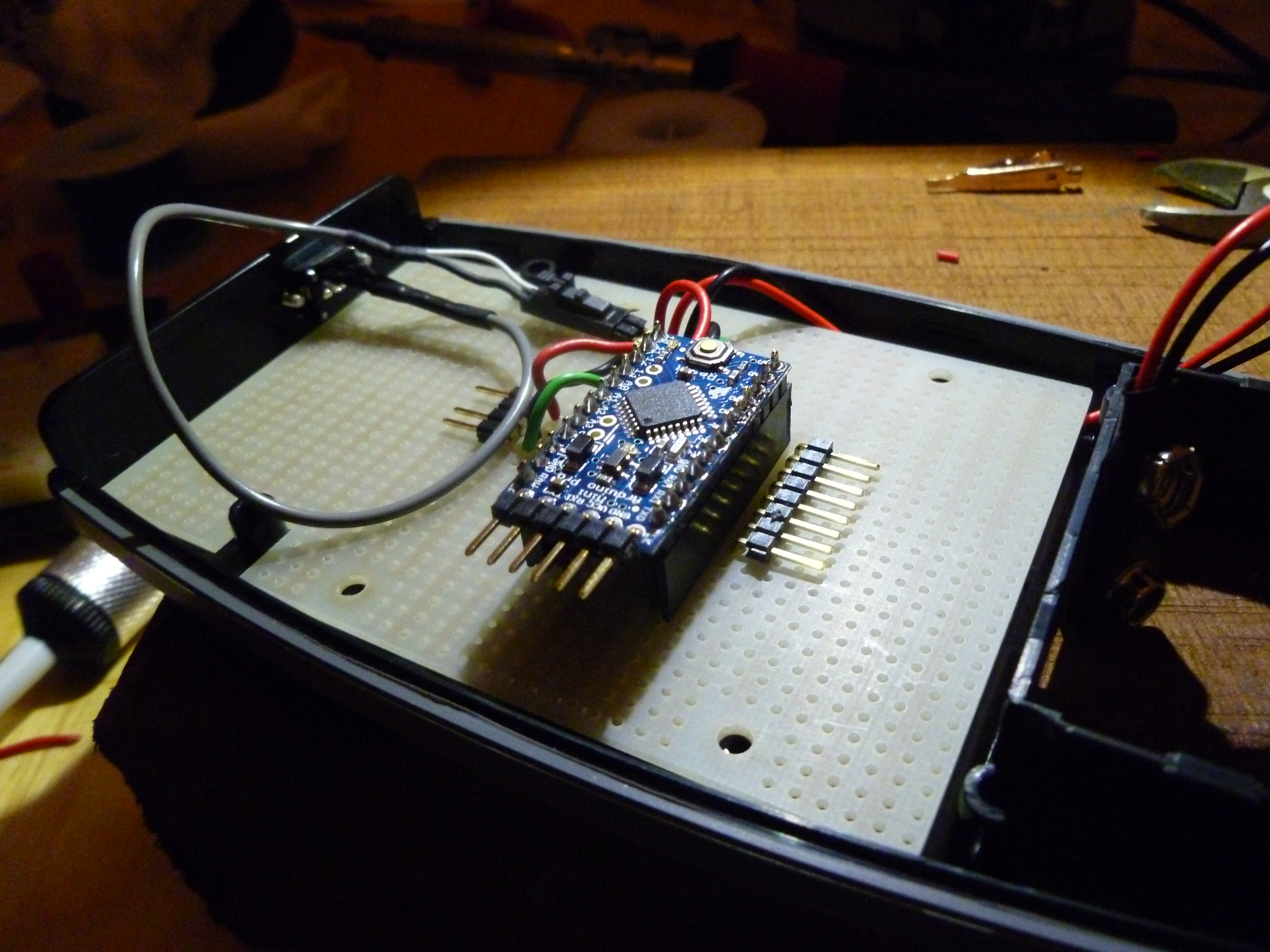Picture of Attach Switch Cable to Protoboard