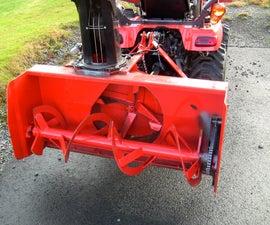 Installing snowblower on Kubota BX tractor