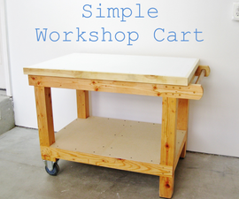 Simple workshop cart (with hidden drawer)