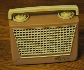 how to revive a first generation Olympic 447 portable transistor radio
