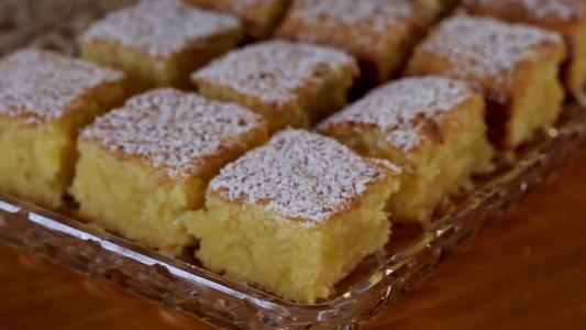 Gluten Free Lemon Brownie (Blondie) Slice