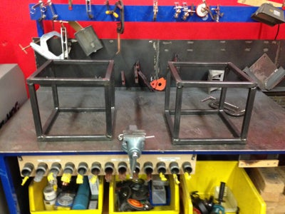Welding, Grinding, and Powder Coating Wood