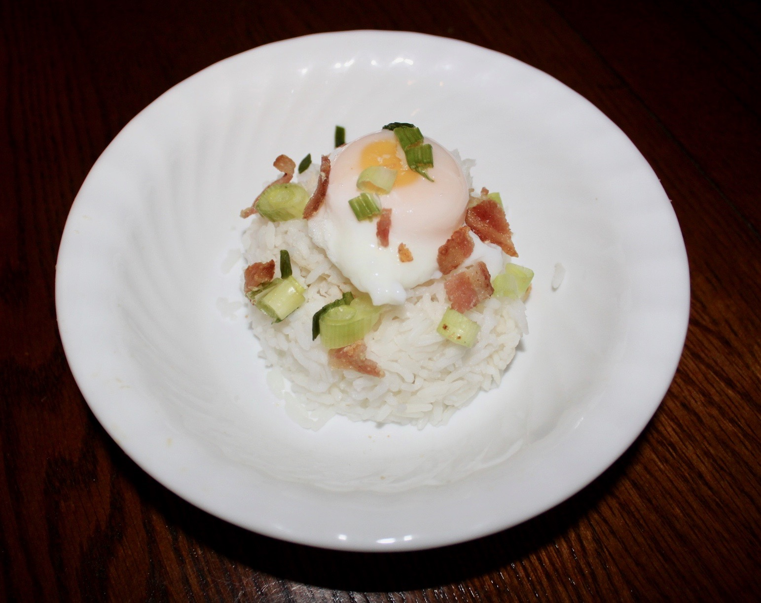 Picture of Poached Egg Over Rice