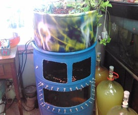 55 gallon food grade barrel to Aquaponic system with tank window