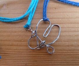 Metal puzzle friendship necklace