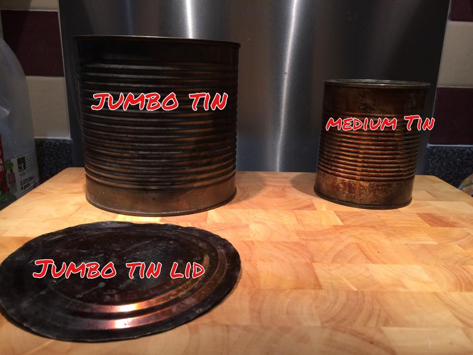 Picture of Tins Sizes and Where From