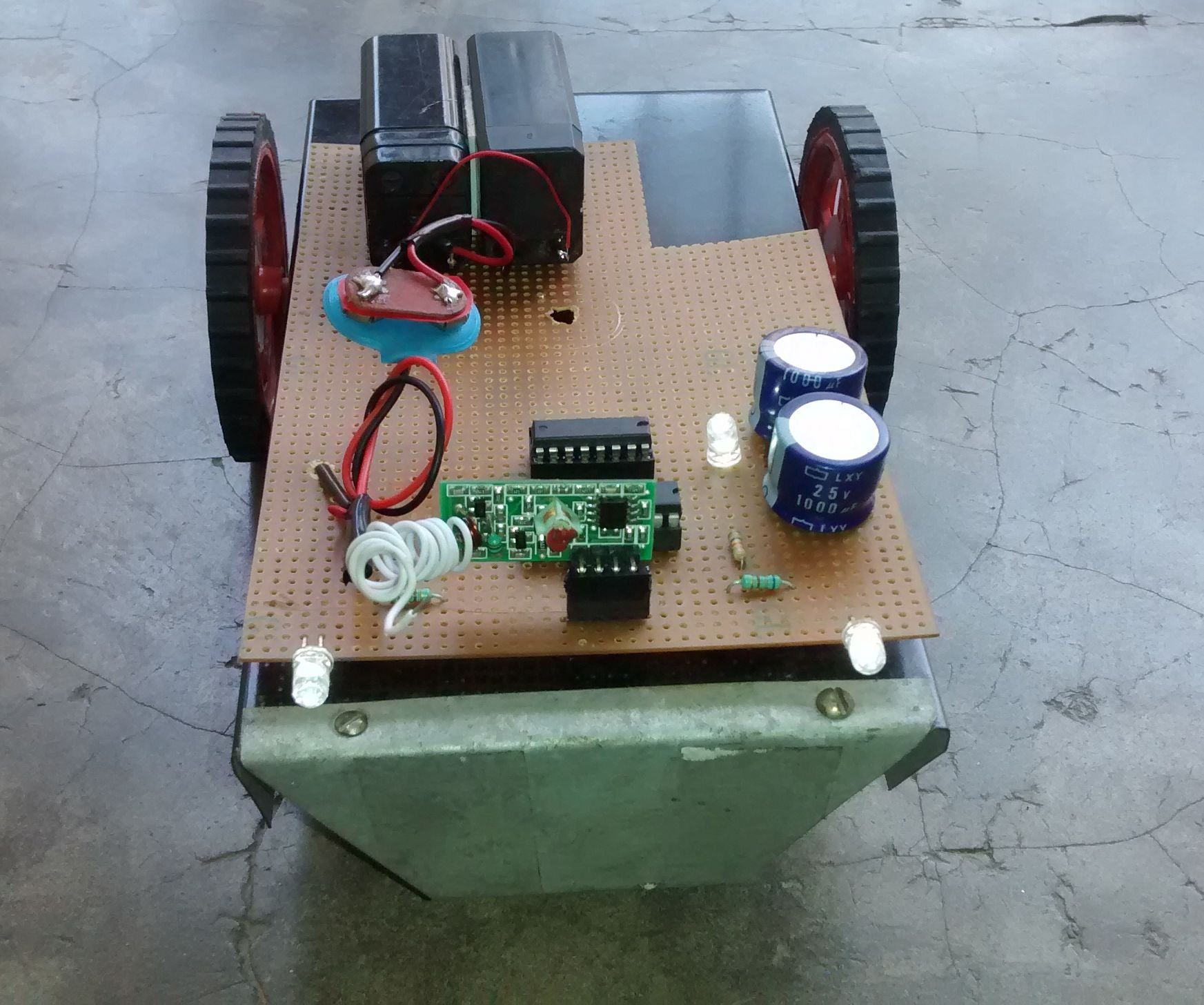 Homemade Rc Car 7 Steps With Pictures Simple Rf Remote Control Circuit Without Microcontroller