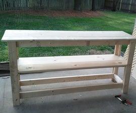 DIY kitchen shelving unit under $150
