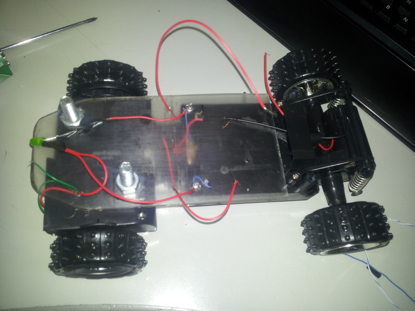 Picture of Turning Led on and Frontal Motor Wiring