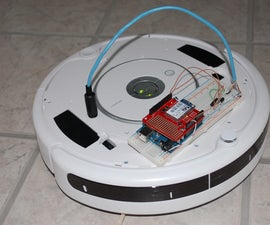 Web-controlled Twittering Roomba