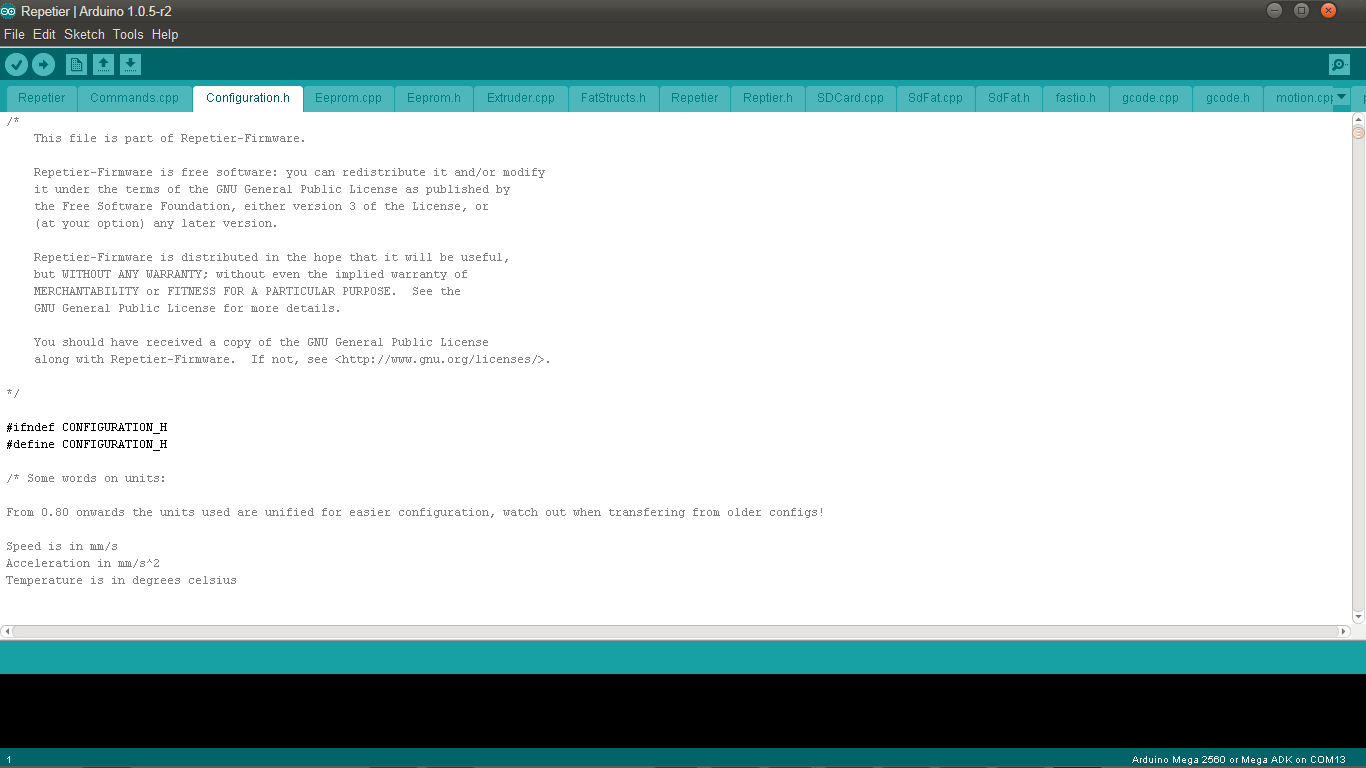 Picture of Configuring Repetier Firmware for Arduino Mega 2560