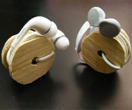 Cable Drum Earphone Holder