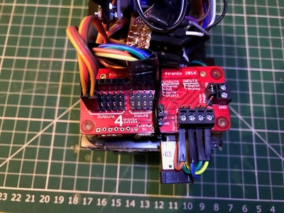 Fitting the PI and Motor Driver Board