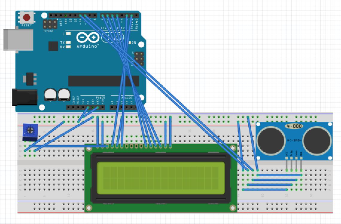 Picture of How to Make an Ultrasonic Range Finder Using an LCD and Arduino