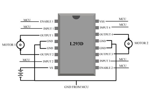 Connecting the Motor Driver Ic