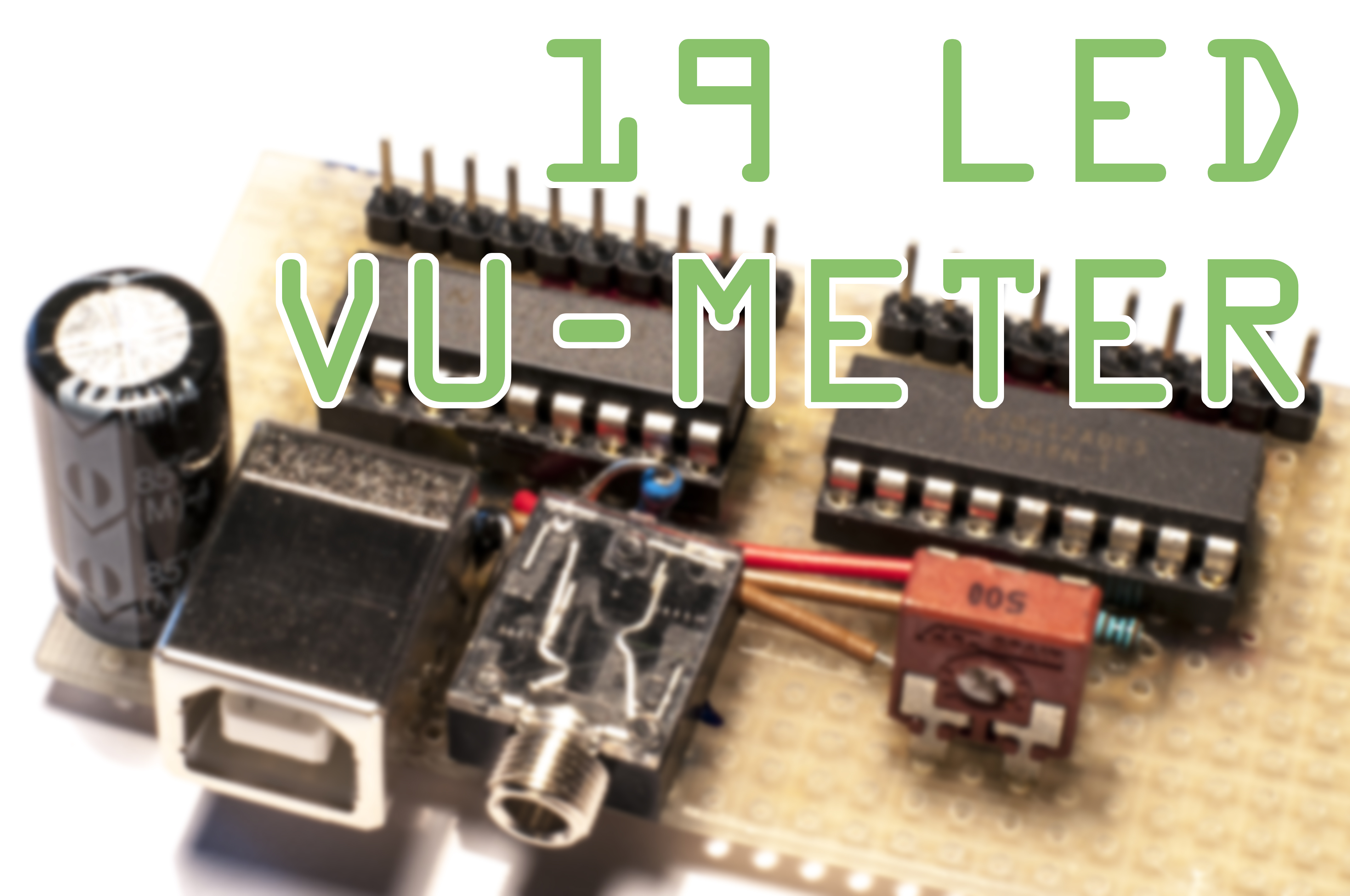 Picture of Simple 20 LED VU Meter + Datasheet Guide
