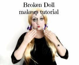BROKEN DOLL halloween makeup tutorial