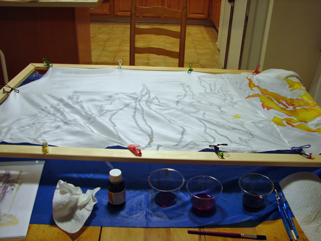 Picture of Train: Silk Painting