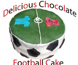 Delicious Chocolate Football Cake