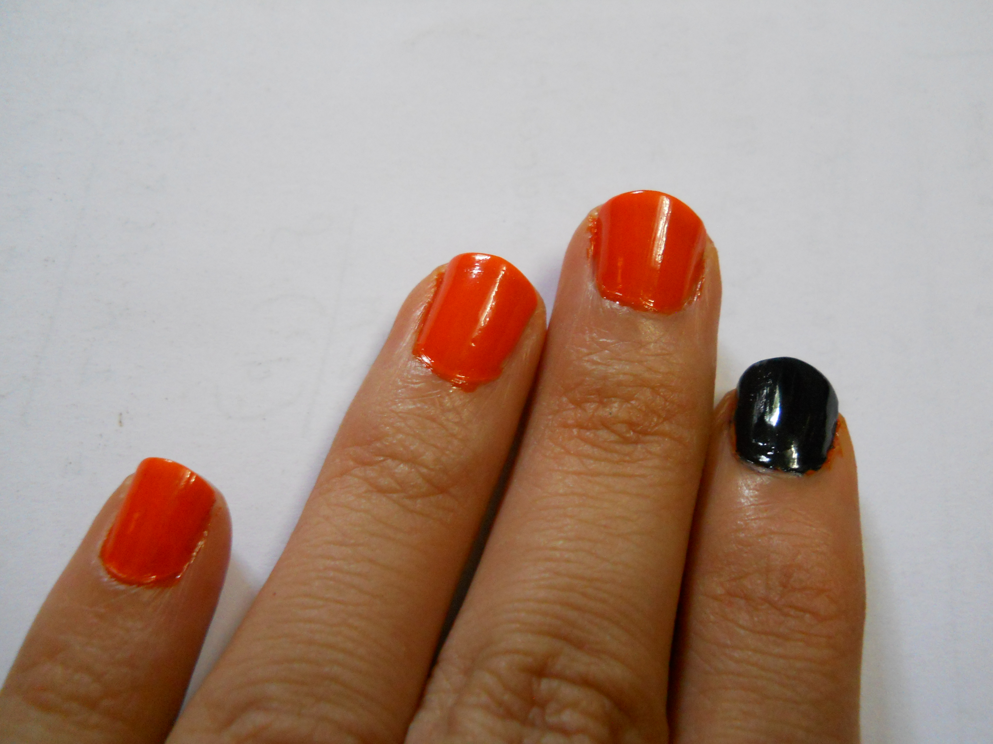 Picture of Spider and Spider Web Nail Art