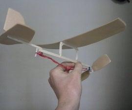 Rubber Band Powered Aeroplane