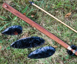 How to Make a Basketmaker Style PVC Atlatl and Dart