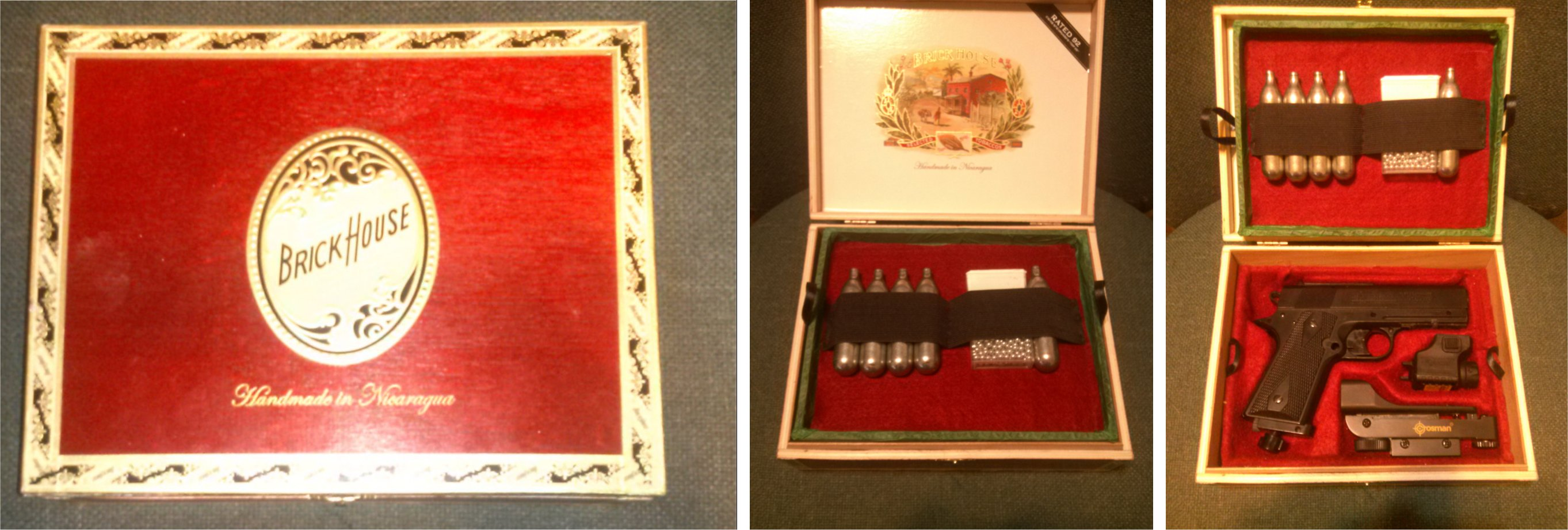 """Picture of Making an """"English Fit"""" Pistol Case Out of a Cigar Box"""