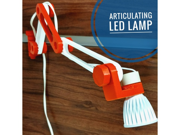 Picture of 3D Printed Articulating LED Lamp