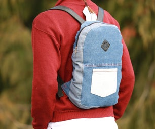Color-Block Backpack From Old Jeans