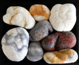 Wet Felt Realistic Stones using a Washing Machine